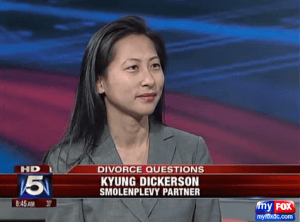 Kyung (Kathryn) Dickerson Fox 5 DC Divorce as a New Year's Resolution